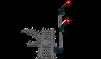 Lego-MOC Eisenbahn-Signal