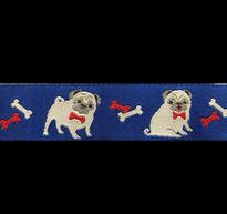 Band 49 - Mops Hund rosa by Ribbon Adorable Pug Jessica Jones