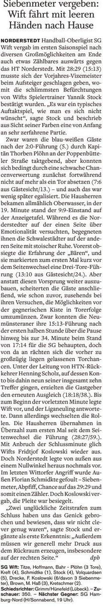 1. Spieltag 2016/2017