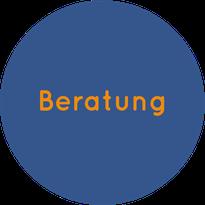 Blauer Button führt zur Seite Beratung