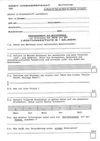 Theorietest vor über 20 Jahren