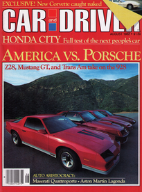 CAR and DRIVER 8-1982 - Driving First-Class