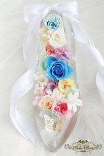 ガラスの靴 ディズニー プロポーズ 薔薇 蝶 販売 花屋 ミラコスタ