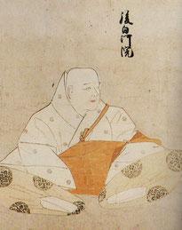 後白河法皇画像。「天子摂関御影」から。宮内庁書陵部蔵