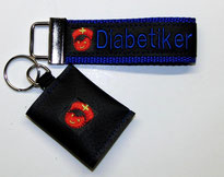 Diabetiker  Schlüsselanhänger Notfallset Anhänger