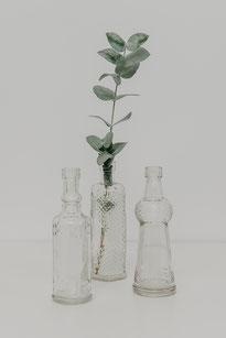 Vintage Vasen Flaschenform