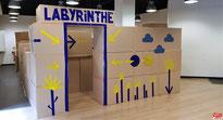 Le Labyrinthe construit par Aude Savasta.