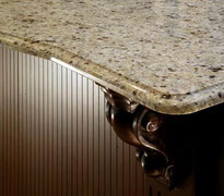 New Venetian Gold granite countertop. Our granite fabricator operates out of Auburn and we can install granite and marble vanities in Kent, Renton, Seattle, Tacoma, Federal Way, and more!