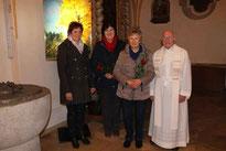 Christina Wutz begrüßte Annelies Eiber und Gertraud Meier als neue Mitglieder.