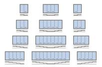 Configuraciones cortina vidrio corredera