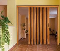 Puertas plegables de separación