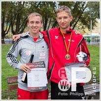 Hagen Pohle und Carl Dohmann (v.l.) unterboten die Olympia-Norm von 3:52h