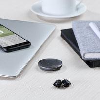 Phonak Virto M, drahtlos verbunden mit Handy und Roger-Produkten