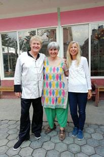 Wolfgang Hahl, Ellen Dietrich, Margit Hahl in Nepal