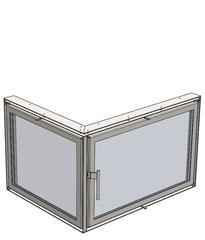 Greub Glasfront / Kaminverglasung 3D Modell