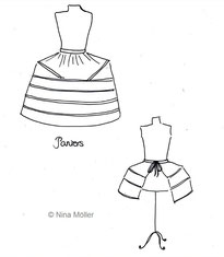 Zwei Varianten des Paniers, Reifröcke, Rokoko, Mode des 18. Jahrhunderts (© Nina Möller)