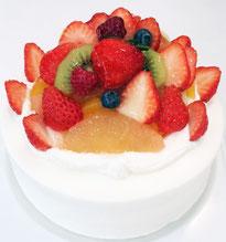 生クリームデコレーションケーキ