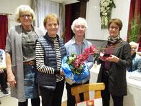 von rechts: Ingrid Sattler, Elke Thoms, Anita Boller und Waltraut Brammer