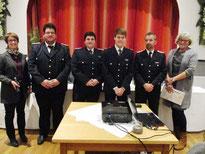 v.li.n.re.  Gerrit Eckhardt und Torben Hansen (Schwabstedt) sowie Jan Hendrik Eggenstein und Torben Clausen (Friedrichstadt)