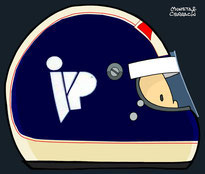 Helmet of Jonathan Palmer by Muneta & Cerracín