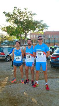 De izq. a der. Vicente García, Rafael Valverde y Luis Luque.