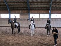 Siegerehrung: Karoline Löffler, Nadine Cibusch und Sara Fasching