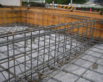 住宅建築工事の基礎工事の画像