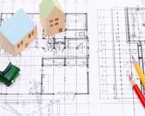 住宅設計図のイラスト