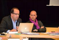 Jean luc BRIANE (à g.), directeur d'IPK Conseil, aux côtés de Frédéric BIERRY, maire de Schirmeck et Conseiller Général