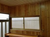 壁/無垢杉板貼り・サッシ取替 (完成)