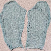 フレンチリネンのカーディガン 袖