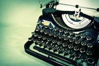 alte nostalgische retro Schreibmaschine