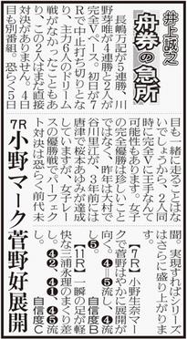 若松ボート予想欄(コラム舟券の急所) 新聞の見方/スポーツ報知西部本社版