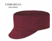 Tamburello con visiera Cup colore Bordeaux