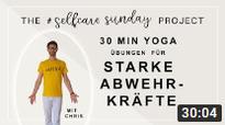 Chris Brand bei der elften #selfcaresunday Yogastunde