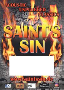 SAINT'S SIN - A2 Plakat