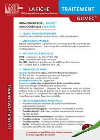 Télécharger la Fiche Traitement Glivec LMC France ITK LEUCEMIE MYELOIDE CHRONIQUE