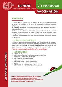 Télécharger la Fiche VIE PRATIQUE VACCINATION LMC France ITK LEUCEMIE MYELOIDE CHRONIQUE