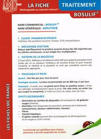 Télécharger Fiche Traitement Bosulif bosutinib LMC France ITK LEUCEMIE MYELOIDE CHRONIQUE LABORATOIRE Pfizer