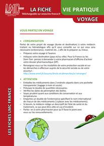 Télécharger la Fiche VIE PRATIQUE VOYAGE LMC France ITK LEUCEMIE MYELOIDE CHRONIQUE