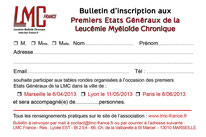 états généraux TABLE RONDE  lmc france leucemie myeloide chronique leucémie myéloïde etats generaux parole patient proche