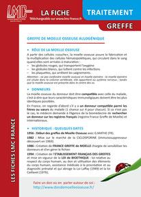 Télécharger la Fiche Traitement Greffe moelle osseuse LMC France ITK LEUCEMIE MYELOIDE CHRONIQUE
