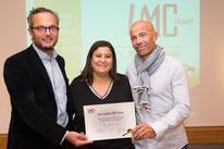 Claude Gillet Mina Daban - Présidente LMC France Norbert Nabet Directeur Adjoint ARS