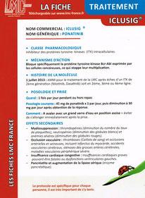 Télécharger la Fiche Traitement Génériques LMC France ITK LEUCEMIE MYELOIDE CHRONIQUE