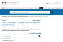 Capture d'Ecran Site service-public.fr : Fiche pratique