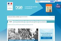 """Capture d'Ecran Site Officiel """"Services à la Personne"""""""