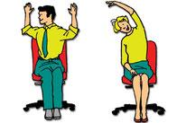 Zwei Rückengymastik-Übungen