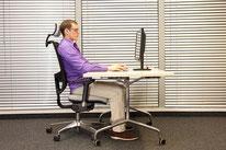 Gesunder Rücken mit der richtigen Bürostuhleinstellung