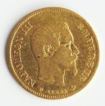 ein 10-Franc-Stück aus dem Jahre 1855