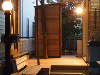 イタウバ、ウッドデッキ、木製物置、施工例